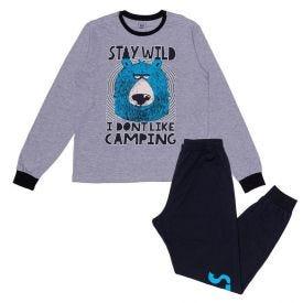Pijama 12 a 16 anos Stay Wild Hot Dog Mescla