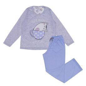 Pijama 12 a 16 anos Tea Time com Calça Marmelada Mescla