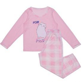 Pijama 12 ao 16 Gatinhos Xadrez Marmelada Rosa