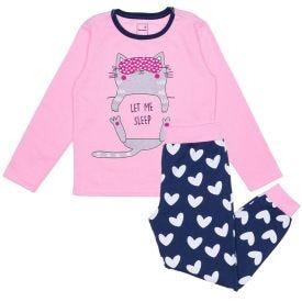 Pijama 4 a 10 anos Let Me Marmelada Rosa Bebe
