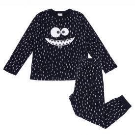 Pijama 4 a 10 anos Moletom Felpado Alakazoo Preto