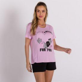 Pijama A Message For You Com Shorts Holla Rosa