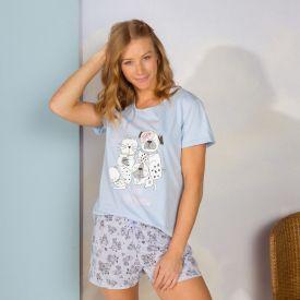 Pijama A Nap Com Shorts Holla Azul