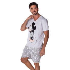 Pijama Curto Mickey Mouse Disney Mescla Claro