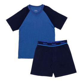 Pijama Curto P ao GG Mash Azul Marinho