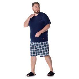 Pijama Curto Plus Size Marc Alain Marinho