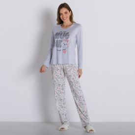 Pijama Cute com Calça Holla Mescla