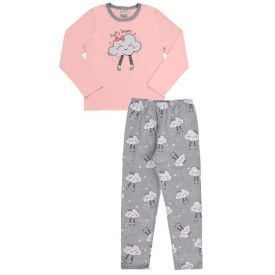 Pijama de 1 a 3 Anos Fluffy Dreams Alakazoo Salmao
