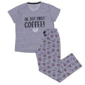 Pijama de 12 a 16 Anos Coffee Marmelada Mescla