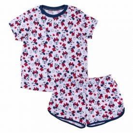 Pijama de 4 a 10 Anos Curto Minnie Disney Branco