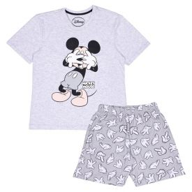 Pijama de 4 a 10 Anos Mickey Disney Mescla Claro