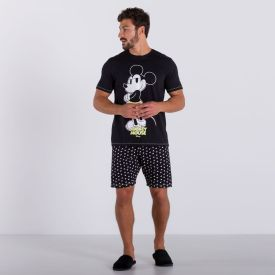 Pijama de Algodão Manga Curta Disney