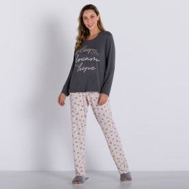 Pijama de Viscose Flower Holla Mescla