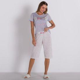 Pijama Dream Com Capri Holla Mescla