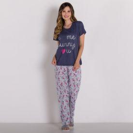 Pijama Friends Com Calça Holla Azul