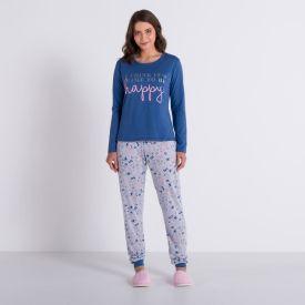 Pijama Happy com Calça Holla Azul