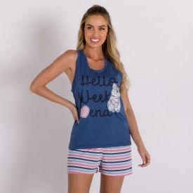 Pijama Hello Weekend Holla Azul