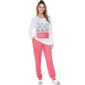 Pijama Let Me Sleep Holla Vermelho/Off White