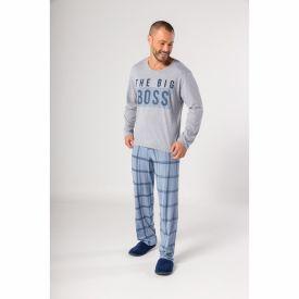 Pijama Longo Calça Xadrez Marc Alain