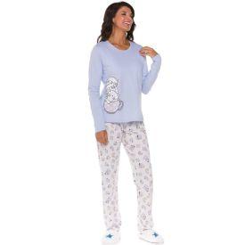 Pijama Longo Gatinhos Holla Azul