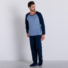 Pijama Longo Marc Alain Azul