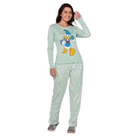 Pijama Longo Pato Donald Disney Verde