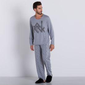 Pijama Longo Rock Marc Alain Mescla