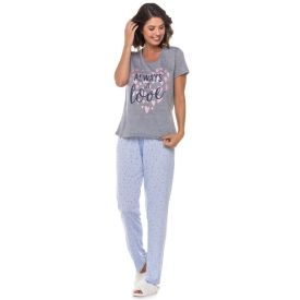 Pijama Meia Estação Always Love Holla Mescla