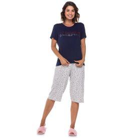 Pijama Meia Estação Poá Holla Marinho