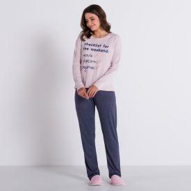 Pijama Pipoca Time C/ Calça Holla Rosa