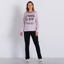 Pijama Sleep More Com Calça Holla Rosa