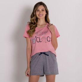 Pijama Sleep Oclock Com Shorts Holla Rosa