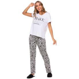 Pijama Viscose Happy Day Holla Branco