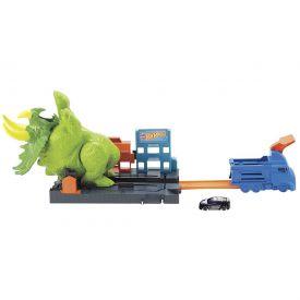 Pista Hot Wheels Ataque Triceratops Mattel - GBF97