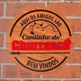Placa Decorativa Cantinho Do Churrasco Forgerini - 720