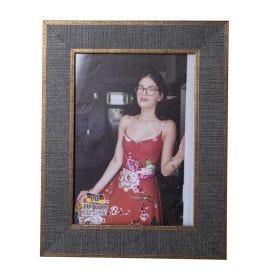 Porta Retrato 15X21cm Bw Quadros  - Cinza com Dourado