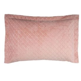 Porta Travesseiro 50Cm X 70Cm Plush 100% Poliéster Yaris - Rosa Chá 2021