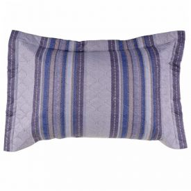 Porta Travesseiro Matelado Microfibra Estampado - Alabama Cinza