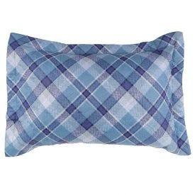 Porta Travesseiro Matelado Microfibra Estampado - Austin Azul