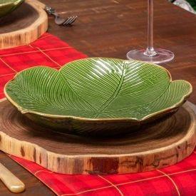 Prato de Servir Banana Leaf 26cm Lyor - Verde