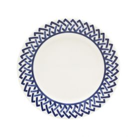 Prato Sobremesa Biona New Trama Blue 19Cm - Cerâmica