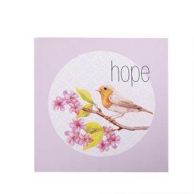 Quadro Decorativo 28X28x1,5Cm  - Hope