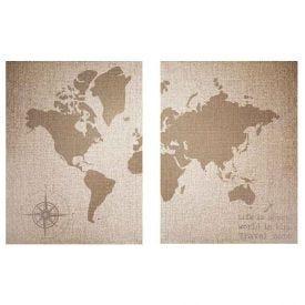 Quadros Decorativos Mapa 2 Peças - PLC00199
