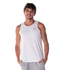 Regata Basic Sports Fila Branco/Prata