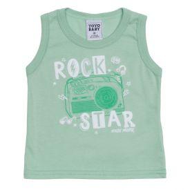 Regata de Bebê Menino Rock Yoyo Baby Verde Claro