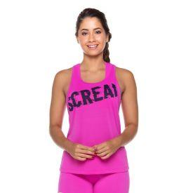 Regata Dry Estampa Frente Scream Rosa