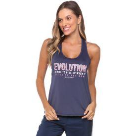 Regata Silk Evolution + Abertura Costas Scream Azul Marinho