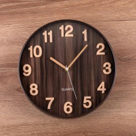 Relógio de Parede Grecia 30cm Solecasa - Marrom Escuro