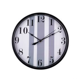 Relógio De Parede Indonésia 30,5X4,5Cm Solecasa - Cinza