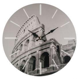 Relógio De Parede Mundi 33,8Cm Yaris - Roma